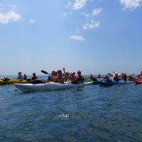 На каяках в Черном море