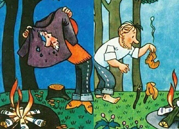 Сушим одежду и обувь в походе